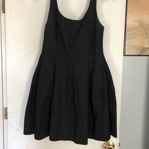 Gap Fit and Flare Ballet neck black dress